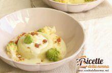 Sformato di broccolo romanesco e fonduta di brie