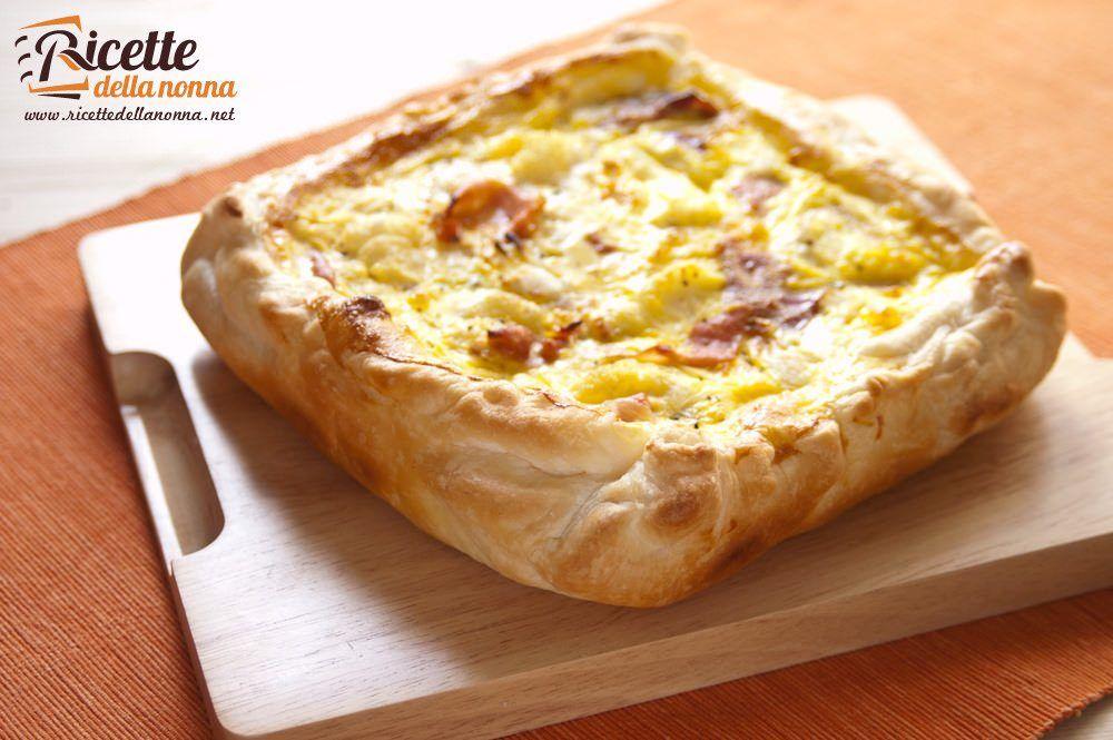 Torta salata con speck cavolfiore e mozzarella ricette for Torte salate con pasta sfoglia