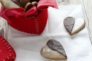 Biscotti doppio cioccolato per San Valentino