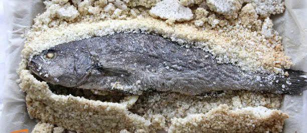 Orata, branzino, ombrina in crosta di sale
