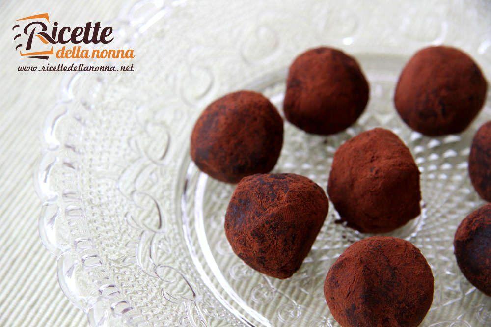 Tartufi al cioccolato | Ricette della Nonna