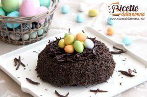 Torta nido di Pasqua al cioccolato