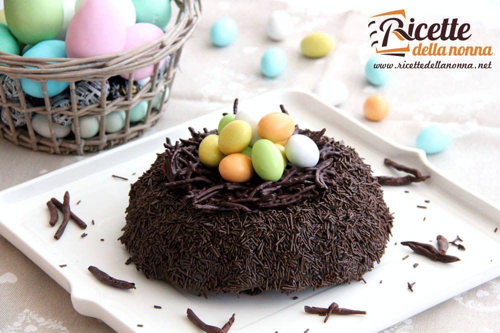 Torta nido di pasqua al cioccolato ricette della nonna for Ricette dolci di pasqua