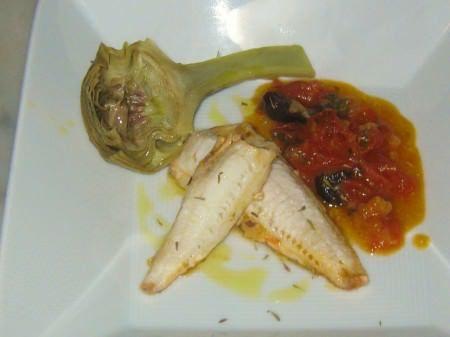 Gallinella in salsa mediterranea ricetta e foto