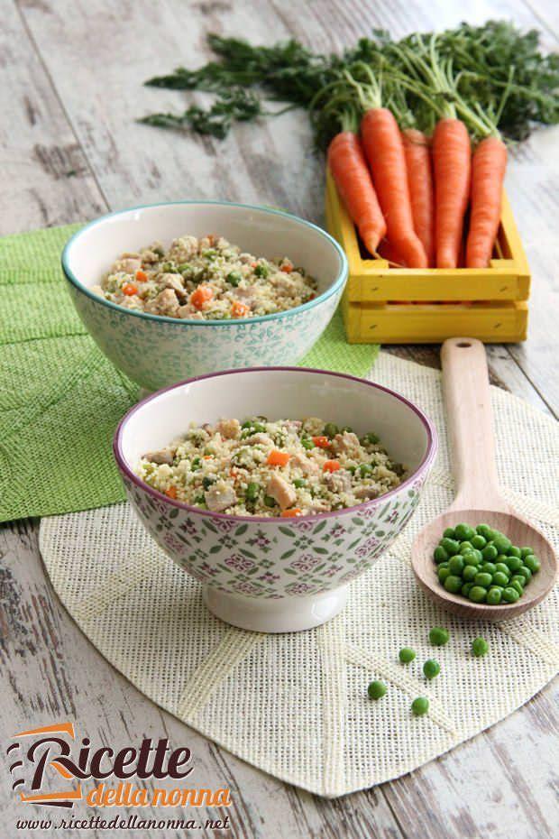 Cous cous al pollo e verdure primaverili ricetta e foto