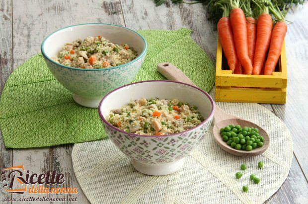 Cous cous al pollo e verdure primaverili