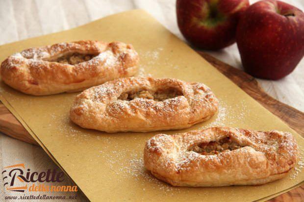 Ricetta fagottini sfoglia mele e cereali