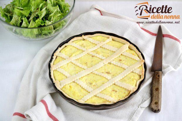 Ricetta crostata gialla con ricotta e scamorza