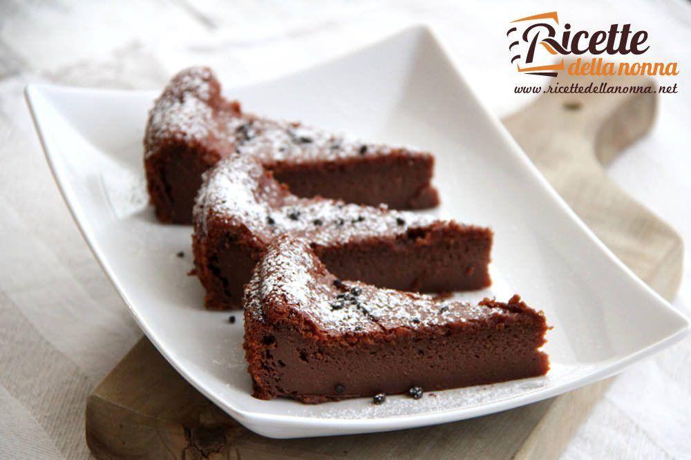 Torta morbida ai due cioccolati ricette della nonna for Ricette torte semplici