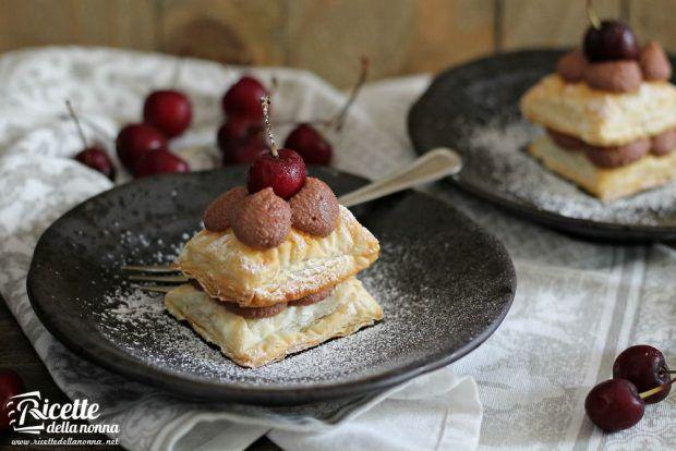 Sfoglia al cioccolato ciliegie ricetta e foto