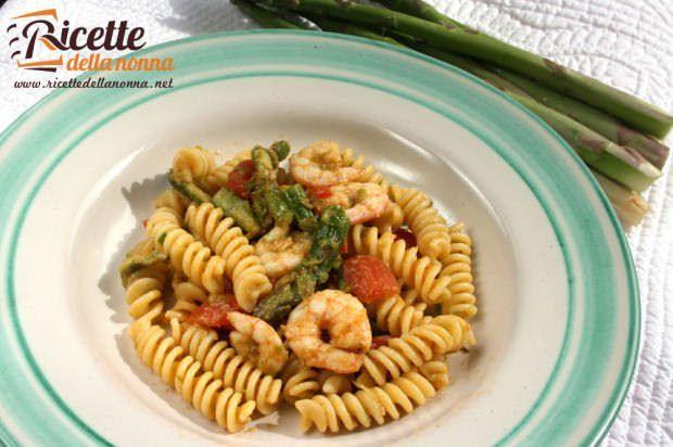 Fusilli asparagi e gamberi ricetta e foto