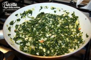 spigola spinaci gamberi
