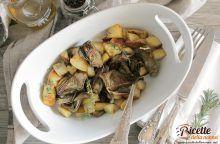 Carciofi e patate in cocotte