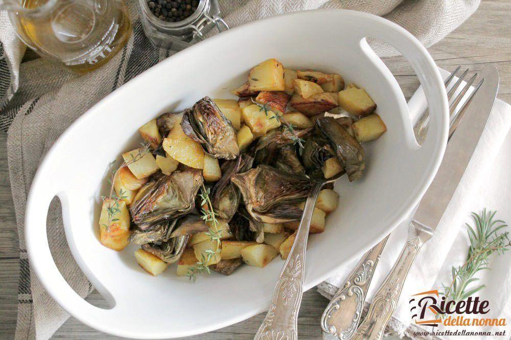 Carciofi e patate in cocotte ricetta e foto