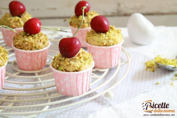 Ricetta Tortini di ciliegie e pistacchi