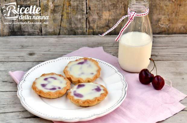 Ricetta tortine ciliegie e cioccolato bianco