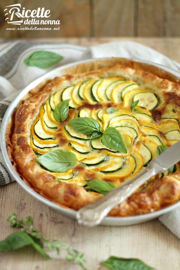 Torta rustica alle zucchine ricetta e foto