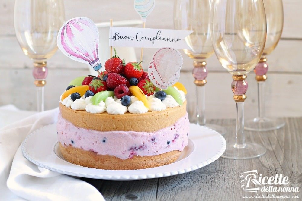 Torta estiva di compleanno ricette della nonna - Colorazione pagina della torta di compleanno ...