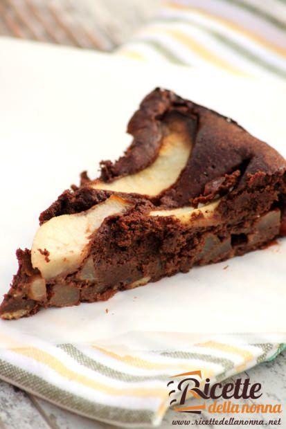 Torta tenerissima di cioccolato e pere coscia