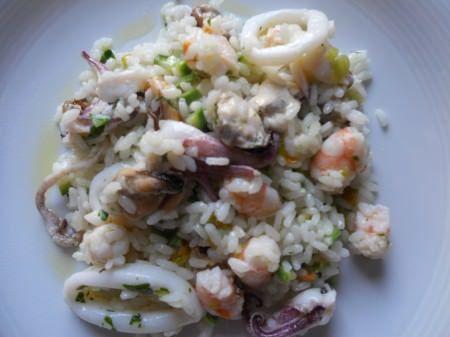 Insalata di riso ai frutti di mare ricetta e foto