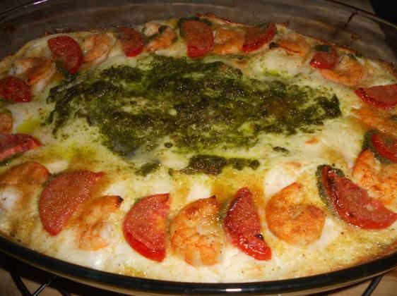 Lasagne di mare al pesto ricetta e foto