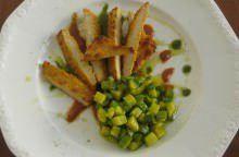 Cotolette di pollo con zucchine allo zafferano