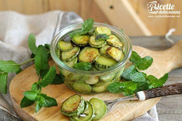 Zucchine marinate ricetta e foto