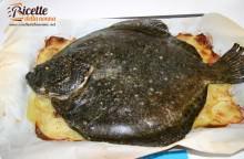 Rombo al forno con le patate