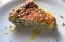 Sformato di erbe di campo ai quattro formaggi e speck