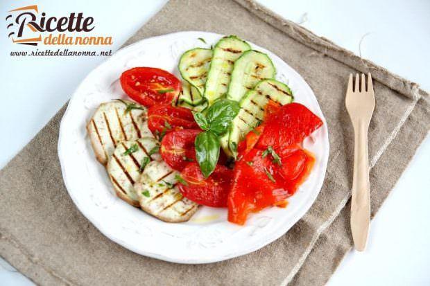 Ricetta insalata di verdure grigliate