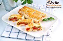 Rotolo di pasta sfoglia con verdure grigliate sfiziose