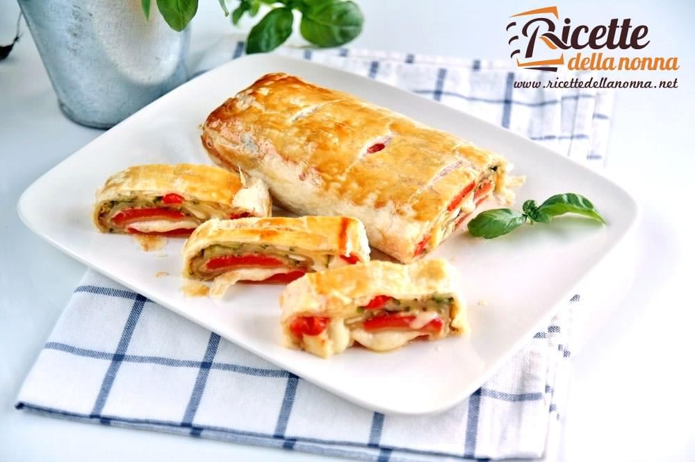 Rotolo di pasta sfoglia con verdure grigliate sfiziose for Ricette con verdure