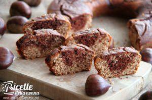 Torta marmorizzata al cacao e castagne