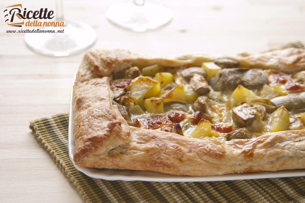 Torta salata con patate e carciofi ricette della nonna for Ricette con carciofi