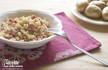 Zuppa orzo, patate e pancetta