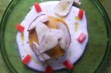 Minestrone solido, porcini e crema di parmigiano
