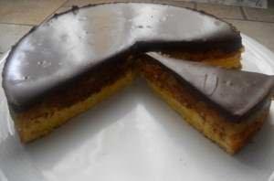 Torta di zucca, mele e cioccolato