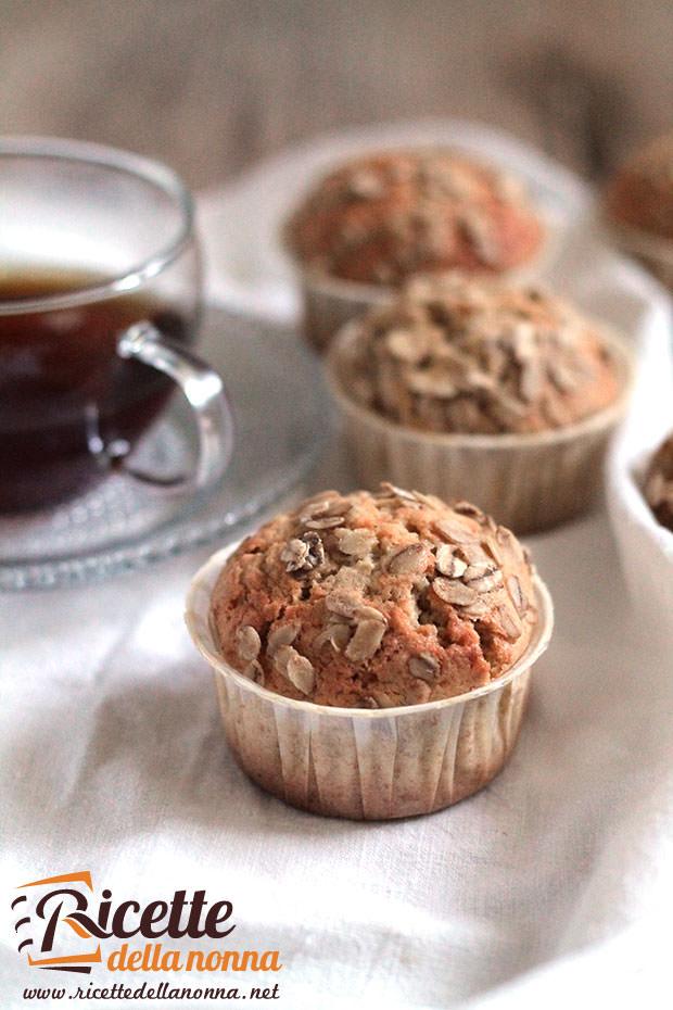 Muffin integrali dolci ricetta e foto
