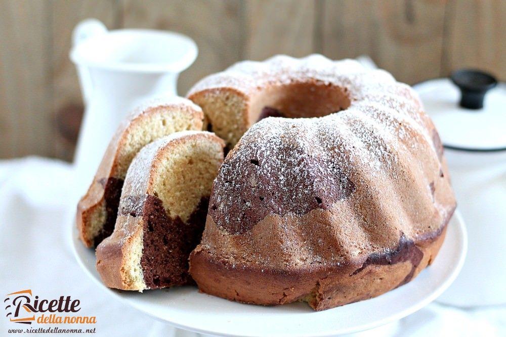 Ciambellone marmorizzato ricette della nonna for Ricette torte semplici