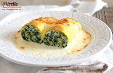 Cannelloni di frittata ripieni di spinaci e ricotta