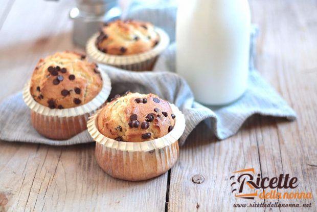 Muffin alle gocce di cioccolato ricetta e foto