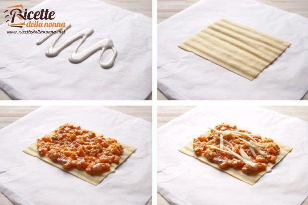 lasagne zucca ricotta scamorza pancetta