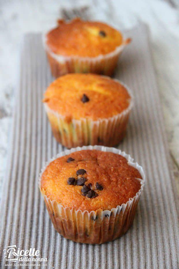 Muffin con gocce di cioccolato ricetta e foto