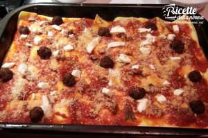 lasagne polpette ragù