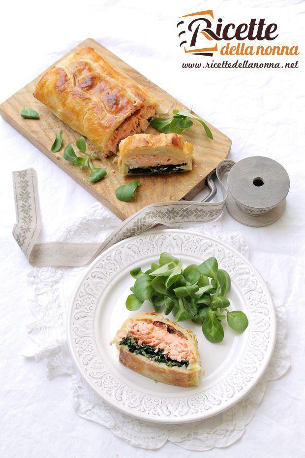 Foto Strudel di salmone agli spinaci e pomodorini secchi