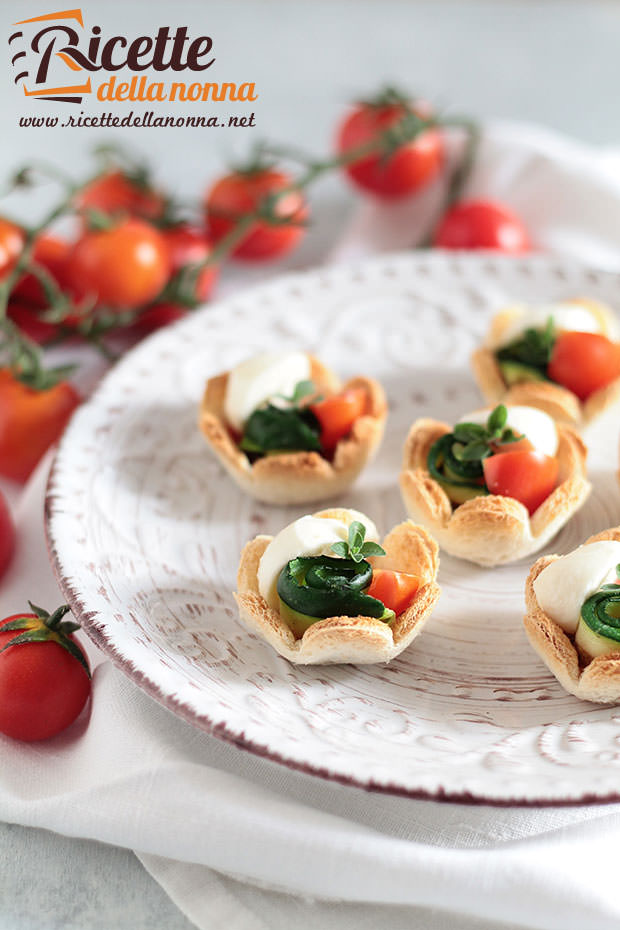 Tartine zucchine e gamberi ricetta e foto