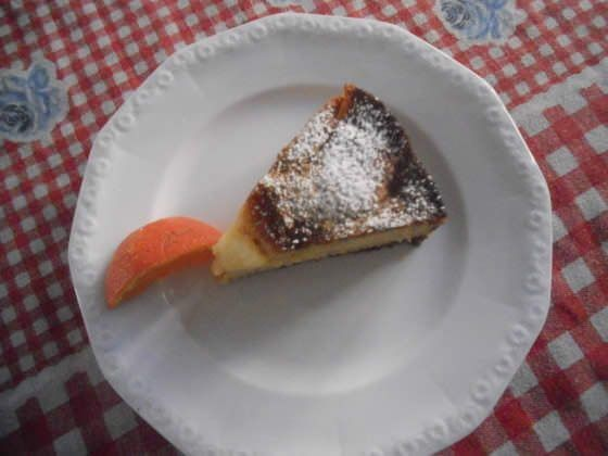 torta di pere e mandarini