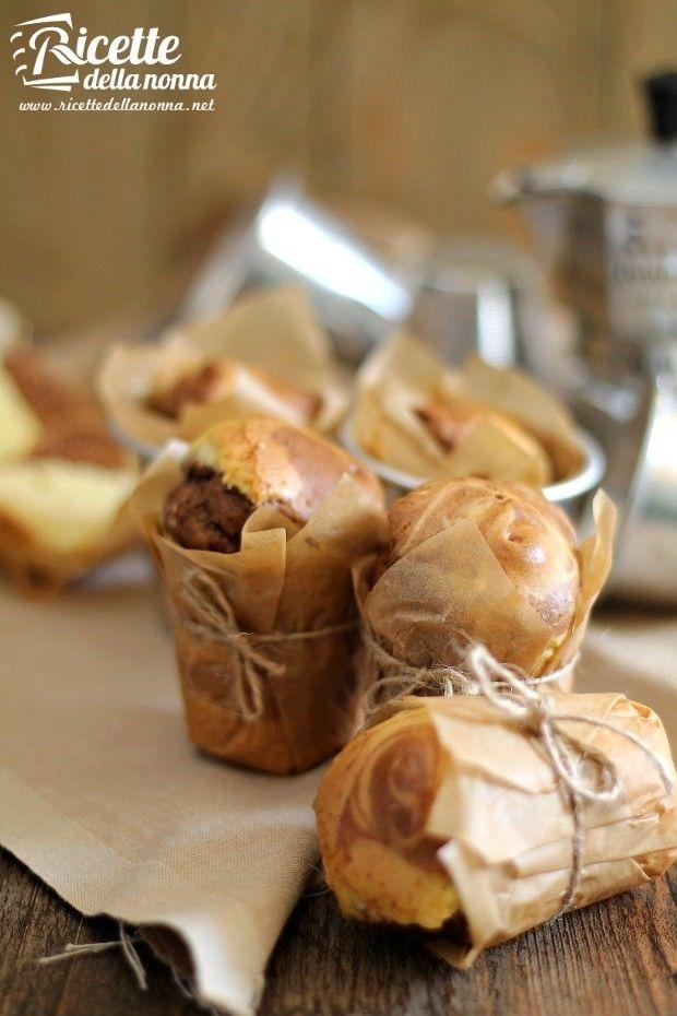 Muffin bicolore ricetta e foto