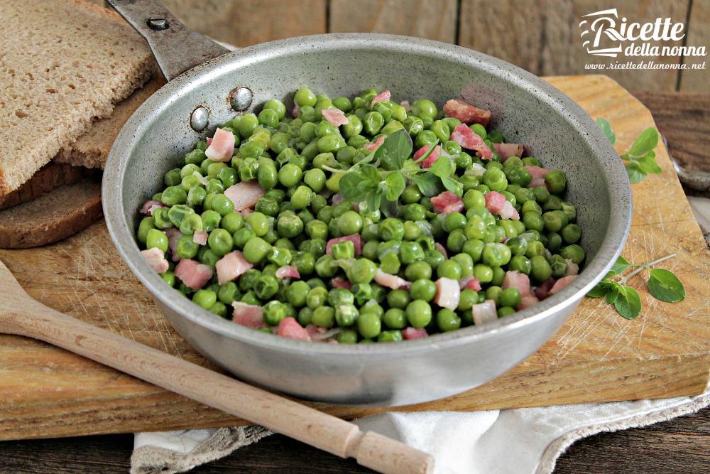 Piselli rustici con pancetta ricette della nonna for Ricette in cucina