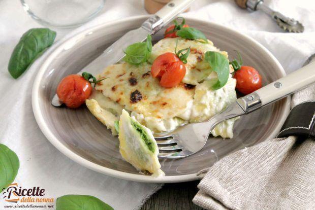 Ravioli di magro alla cicoria e mozzarella ricetta e foto